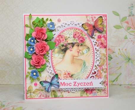 Kartka urodzinowa imieninowa dla kobiety