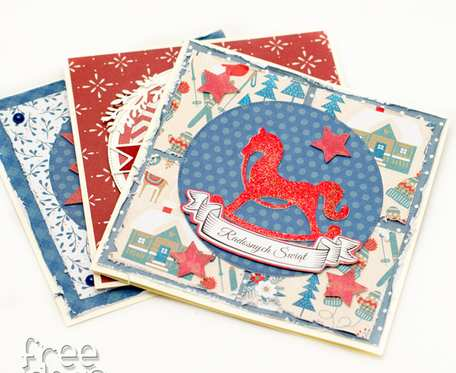 Zestaw 3 kartek świątecznych KBNZ1903