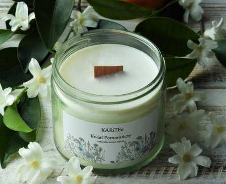 Naturalna, zapachowa świeca sojowa KWIAT POMARAŃCZY bardzo duża