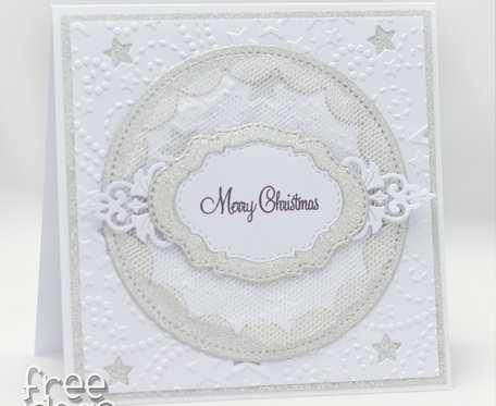 Kartka świąteczna biel i srebro 1928
