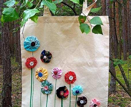 Torba kwiatowa 2 len/bawełna
