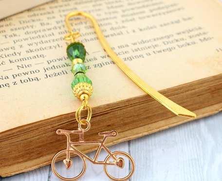 Mała zakładka do książki - rower