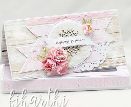 Kwiecista kartka w pudełku na Dzień Babci KDB2104
