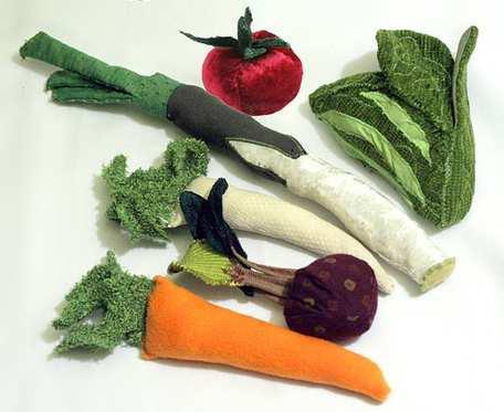 Zestaw warzyw - przytulanki