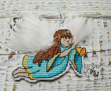 haftowany aniołek na zamówienie