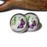 Kolczyki z lawendowym Motylkiem