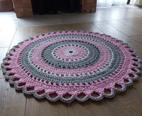 Dywan 3 kolory, 110 cm, bawełna 100 procent