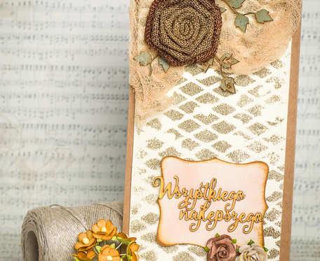 Kartka okazjonalna z napisem Najlepsze życzenia