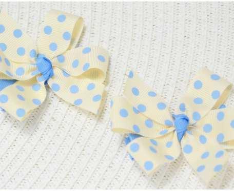 Komplet 2 szt. spinek - niebieskie kropeczki