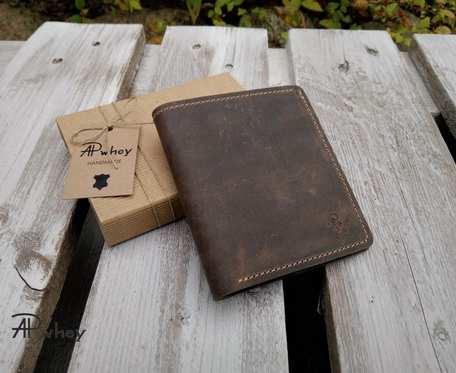 Kompaktowy portfel męski, brąz