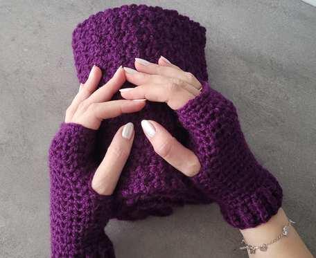 Szalik i rękawiczki bordo