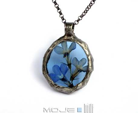 Herbario w błękicie: lobelie - wisior