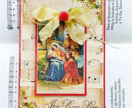 Kartka świąteczna ze św. Rodziną