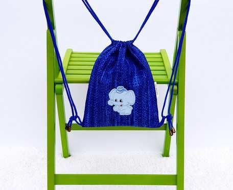 Plecak – Worek dla dzieci niebieski wzór i słonie