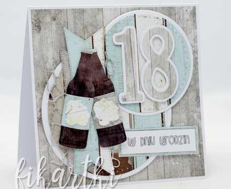 Kartka urodzinowa na 18 urodziny dla chłopaka KU2016