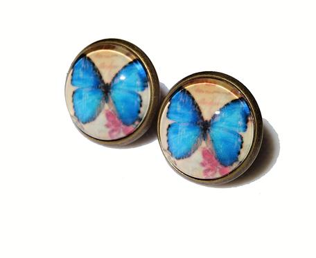 Kolczyki Motyle Blue