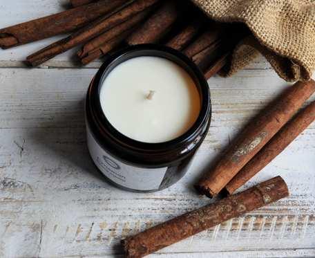 Zapachowa, naturalna świeca sojowa CYNAMON