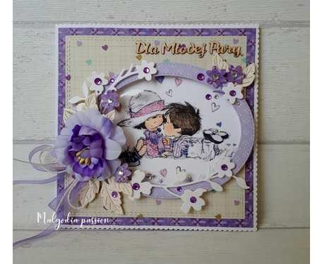 Kartka  ślubna na wesoło