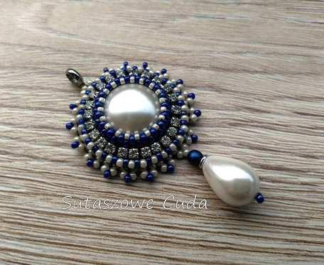 Zawieszka z perłą seaschell