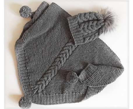 Chusta i czapka - komplet zimowy