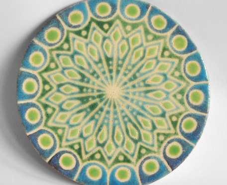 Podkładka pod czajniczek - turkusowo zielona