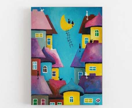 Abstrakcja-Bajkowe miasteczko