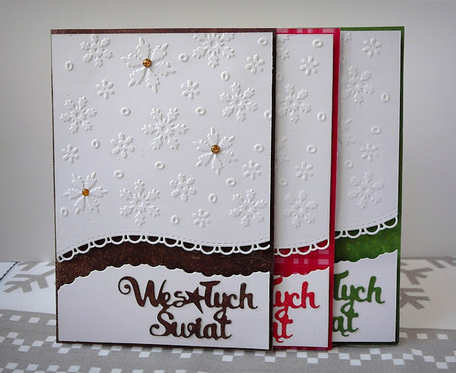 Kartk świąteczne komplet 3 szt. Wesołych Świąt