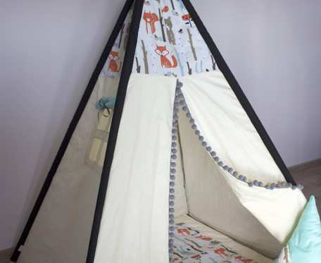 Namiot Tipi Teepee leśne zwierzaki