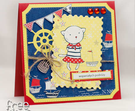 Morskie opowieści, kartka dla dziewczynki na urodzinki 1815