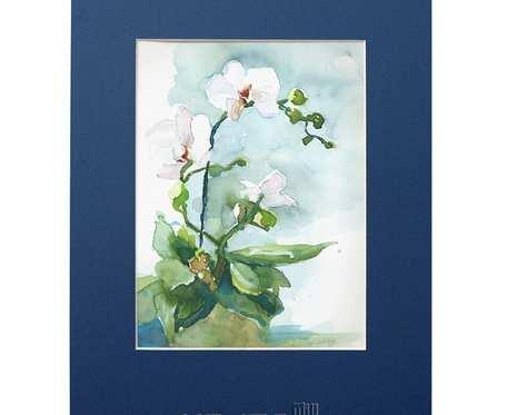Storczyki - akwarela