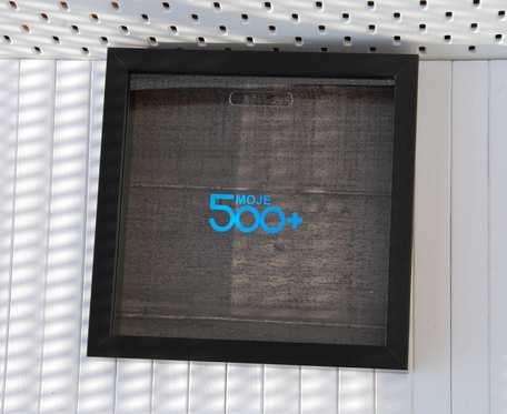 Skarbonka w ramce - 500+