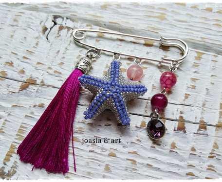 broszka z rozgwiazdą