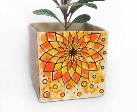Osłonka 9cm - pomarańczowa rozeta