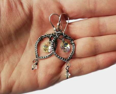 Kolczyki z kryształkami swarovskiego