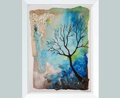 Drzewo-akwarela