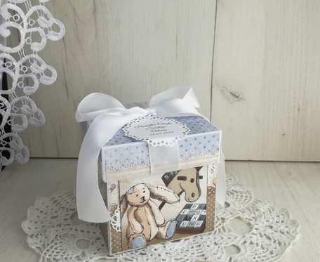 Exploding box z króliczkiem, chrzest, roczek, narodziny