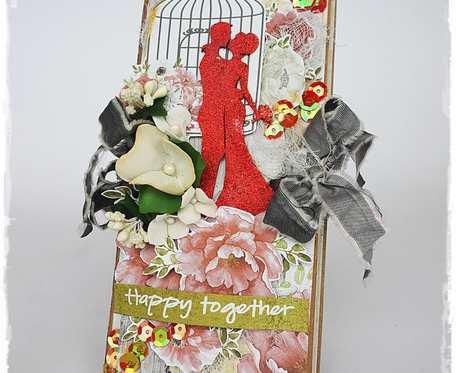 Kartka z okazji ślubu - czekoladownik