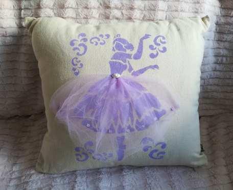 Poszewka na poduszkę z baletnicą