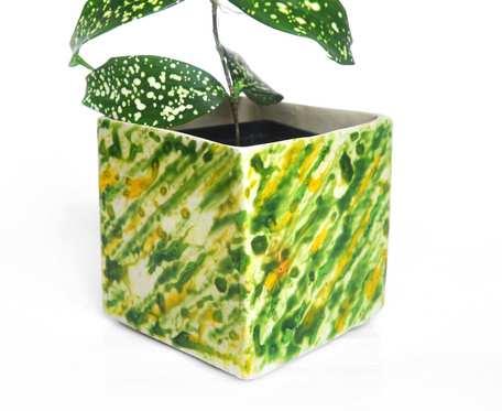 Osłonka 9cm - zielone plamy