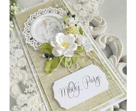 Ślubna kartka DL w pudełku 62