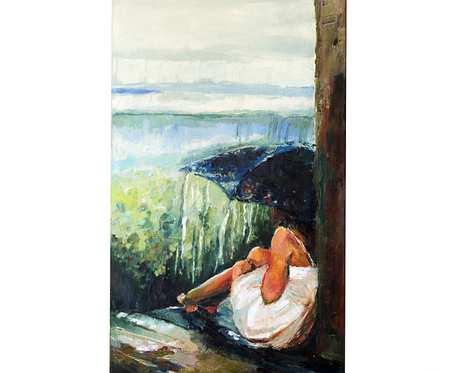 Deszczowa melancholia - obraz olejny