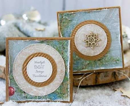 Jestem z najpiękniejszych PODARKÓW ŚWIĄTECZNYCH stworzony przez Mrufru. Mini kartka w filigranowym pudełeczku. Boże Narodzenie (m07)