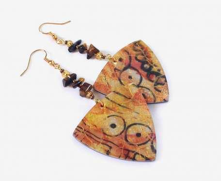 Kolczyki SAHARA z kamieniami