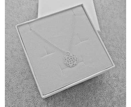 Naszyjnik Srebrny pr. 925 Rozeta