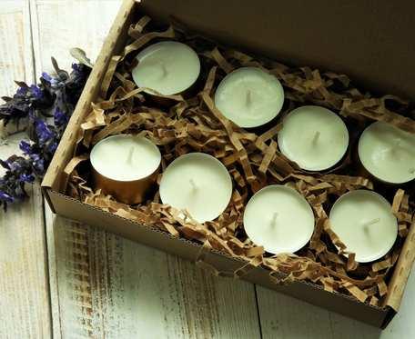 Naturalne, ekologiczne podgrzewacze sojowe tealight