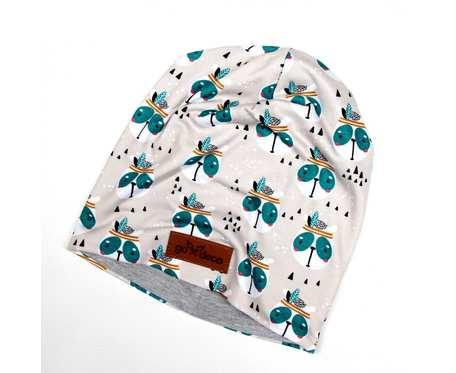 Kolorowa czapka beanie uniwersalna jeże