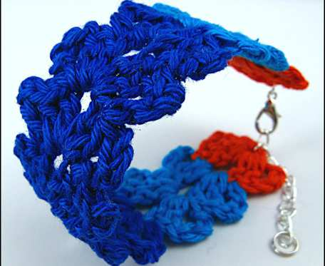 SUNNIVA kolorowa szydełkowa bawełniana bransoletka