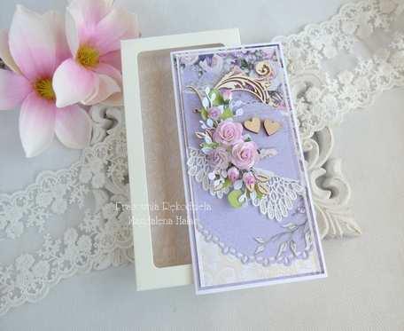 Ślubna kartka w pudełku 190