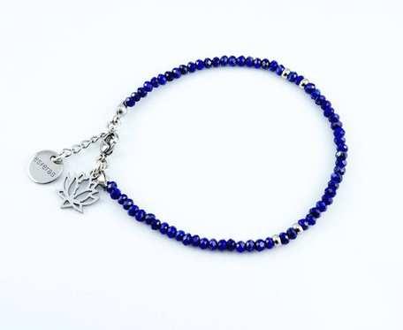 Bransoletka Lapis lazuli 3 mm Lotos