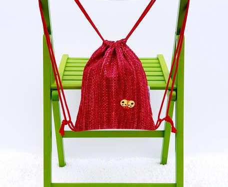 Plecak – Worek dla dzieci czerwony wzór i motyl
